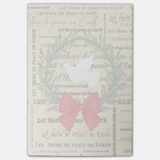 Post-it® Paix sur la colombe de la terre, feuille olive,