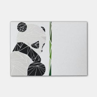 Post-it® Panda triste géométrique