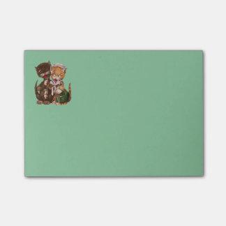 Post-it® Panier vintage de cadeau de rat de chats