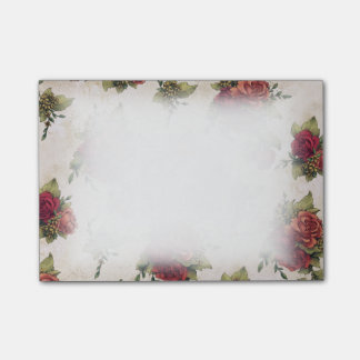 Post-it® Papier peint antique de rose rouge