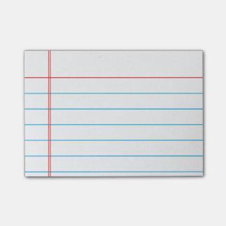 Post-it® Papier rayé personnalisable personnalisé de carnet