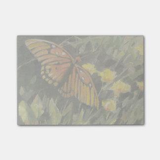 Post-it® Papillon et fleurs jaunes