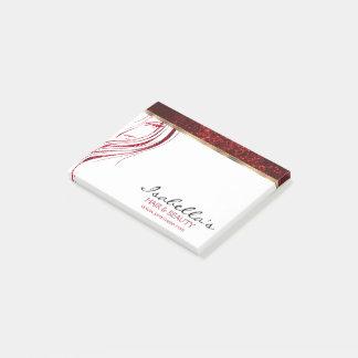 Post-it® Parties scintillantes rouges - salon de beauté de