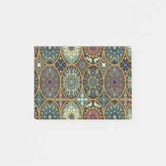 Post-it® Patchwork vintage avec les éléments floraux de
