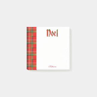 Post-it® Personnalisez : Typographie de tartan de Noël de