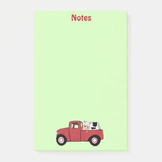 """Post-it® Peu de vache rouge à camion 4"""" x 6"""" notes de"""