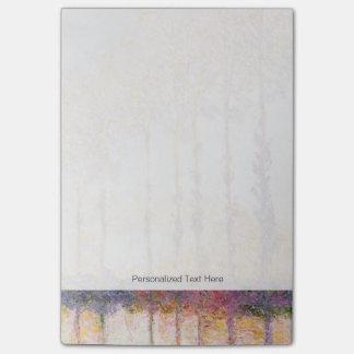 Post-it® Peupliers de Claude Monet | sur les banques de