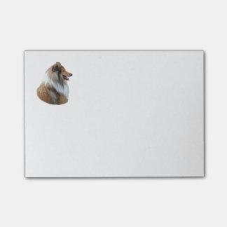 Post-it® Photo rugueuse de portrait de chien de colley