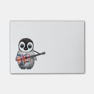 Post-it® Pingouin de bébé jouant la guitare britannique de