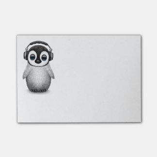Post-it® Pingouin mignon personnalisable DJ de bébé avec
