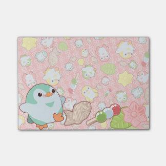 Post-it® Pingouins et Wagashi de Kawaii