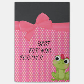 Post-it® Pois, message Froggy-De motivation mignon