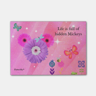 Post-it® POST-IT CACHÉ de fleur de ressort de MICKEY