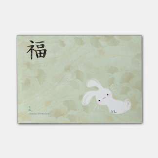Post-it® Post-it chanceux de lapin (Ginkgo)