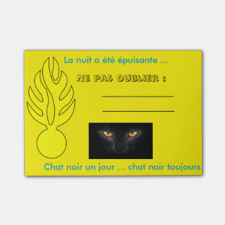 Post-it® Post it chat noir ! Nuit difficile