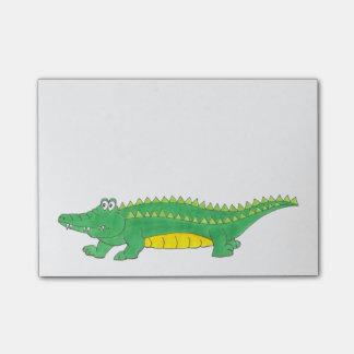 Post-it® Post-its verts de Croc de crocodile d'alligator