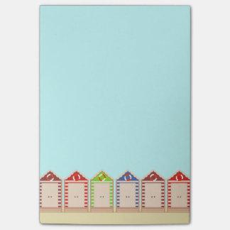 Post-it® Rangée des huttes colorées de plage