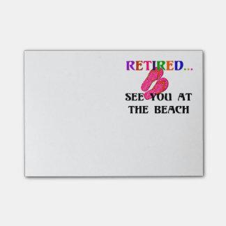 Post-it® Retiré : Voyez-vous à la plage, bascules