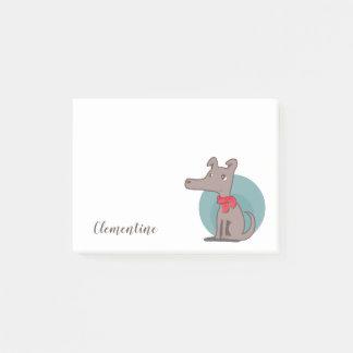 Post-it® Rétro chien avec une écharpe rouge