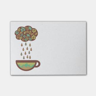 Post-it® Rétro tasse de thé pleuvante de nuage de feuilles