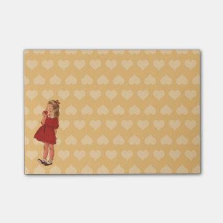 Post-it® Robe rouge vintage Apple de petite fille