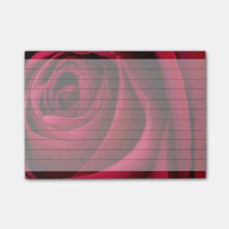 Post-it® Rose rouge de fleur