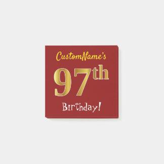 Post-it® Rouge, anniversaire d'or de Faux