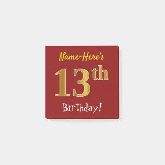 Post-it® Rouge, anniversaire d'or de Faux 13ème, avec le
