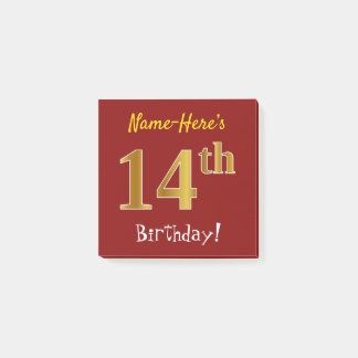 Post-it® Rouge, anniversaire d'or de Faux 14ème, avec le