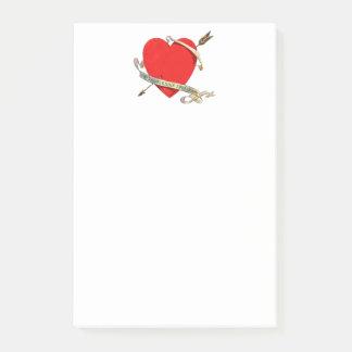 Post-it® Ruban 1901 et flèche de Valentine Heartwith de cru