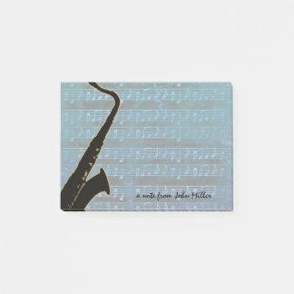 Post-it® Saxophone de notes bleues