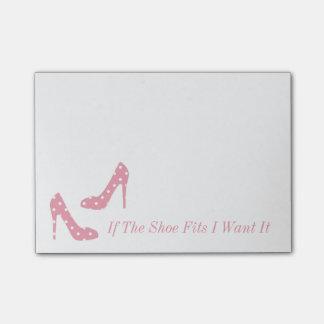 Post-it® Si les ajustements de chaussure je le veulent les
