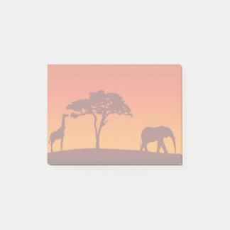 Post-it® Silhouette africaine de safari - notes de