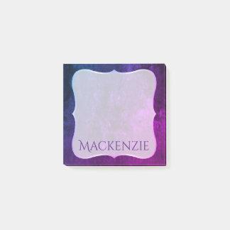 Post-it® Sirène bleue rose pourpre nommée du bureau | de