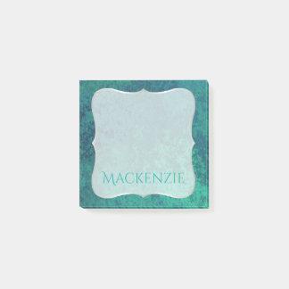 Post-it® Sirène turquoise nommée bleu vert de vert bleu du