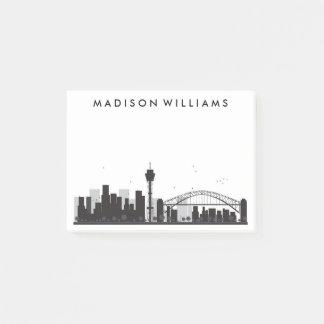 Post-it® Sydney, Australie horizon noir et blanc de | de