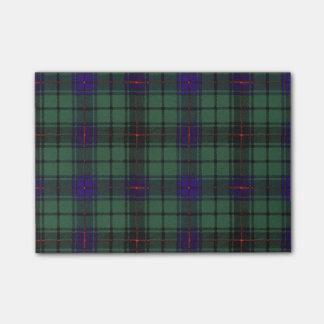Post-it® Tartan d'écossais de plaid de clan de Davidson