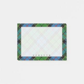 Post-it® Tartan écossais majestueux de Forsyth de clan