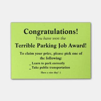 Post-it terrible de stationnement post-it®