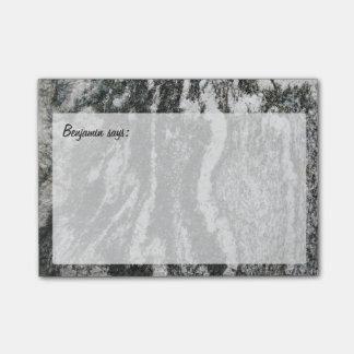 Post-it® Texture décorative de roche avec tout texte