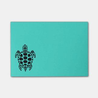 Post-it® Turquoise tribale de tortue de mer