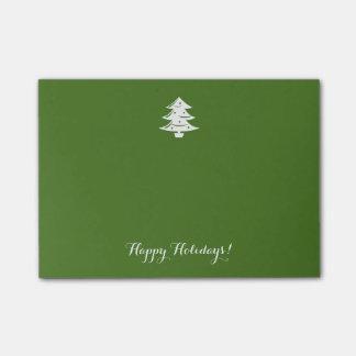 Post-it® Vacances vertes vintages de coutume d'arbre de