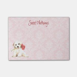 Post-it® Valentine Bichon rose