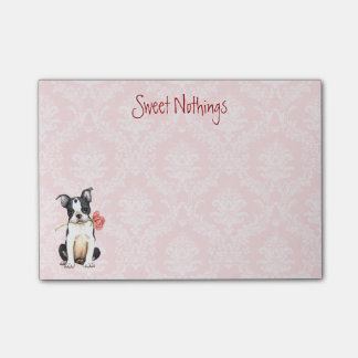 Post-it® Valentine Boston rose Terrier