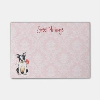 Post-it® Valentine Boston rose Terrier