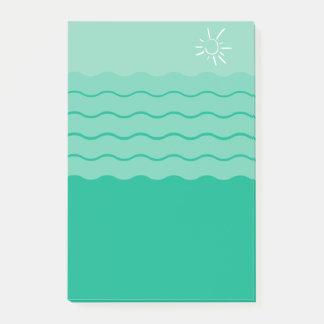 Post-it® Vert avec des vagues