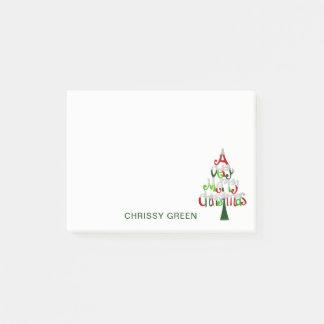 Post-it® Vert rouge fait sur commande de Joyeux Noël de