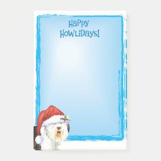 Post-it® Vieux chien de berger anglais heureux de Howlidays