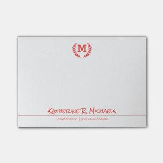Post-it® Votre monogramme et information