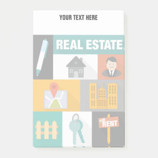 Post-it® Vrai agent immobilier professionnel